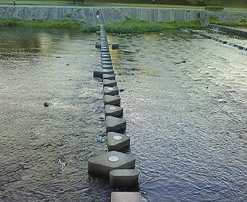 賀茂川 北山大橋付近渡河地点