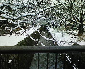 雪の琵琶湖疏水