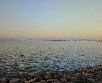 春の琵琶湖・夕景