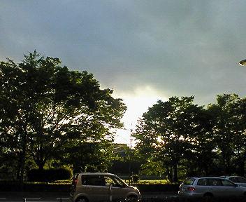 鴨沂小隱跡から見た夕景