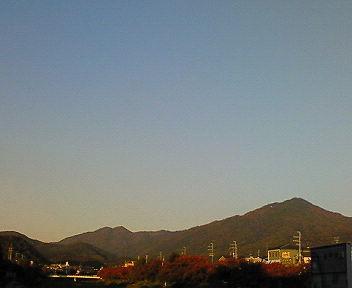 比叡山夕景