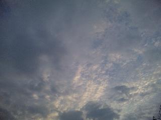 明け方の空と雲
