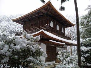 雪の銀閣寺2