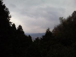 狸谷山不動院本堂からの眺め