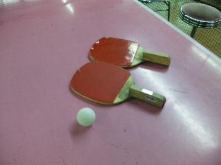 トレーニングで卓球を