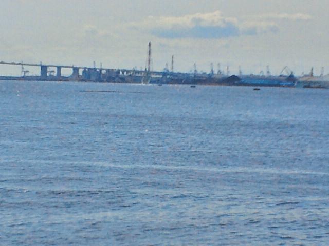 名古屋港より南西を望む