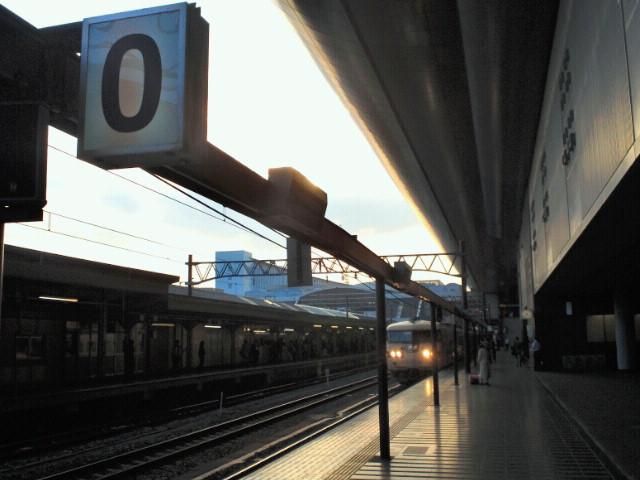 JR京都駅0番線ホーム