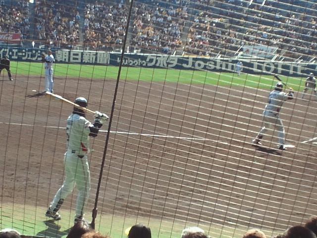 3回表二死満塁阪神・二神対ヤクルト・バレンティン