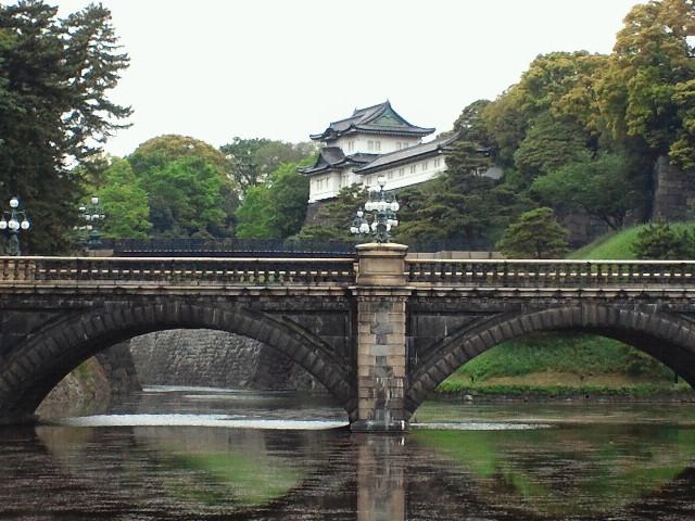 二重橋と石橋と伏見櫓、多聞櫓
