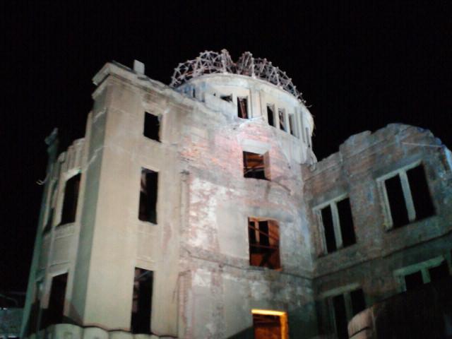 原爆ドーム夜景
