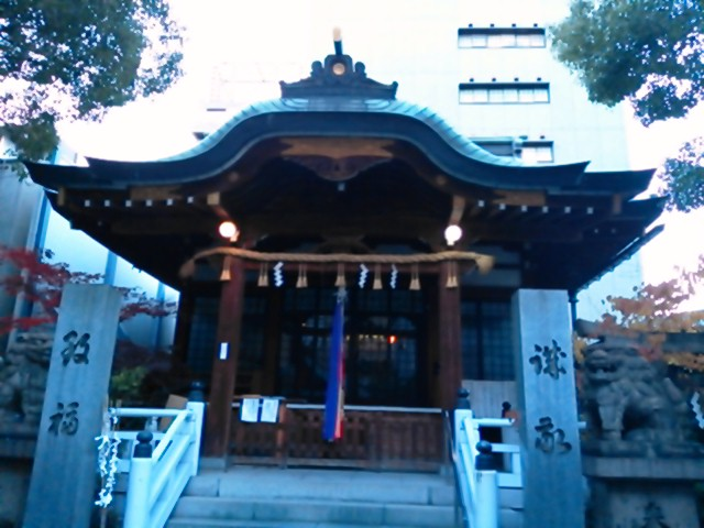 鵲森宮(かささぎもりのみや。通称:森之宮神社)にて
