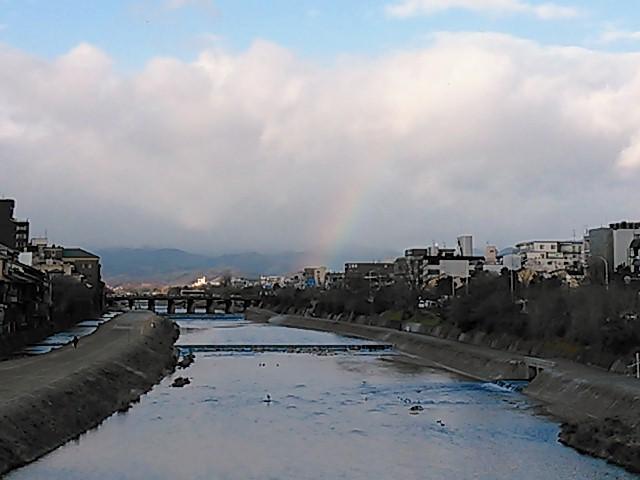 クリスマス・イブの虹