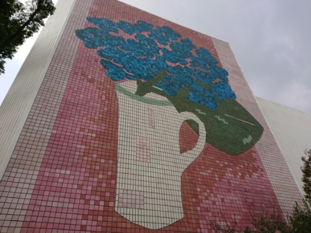 神戸文化ホール 高村智恵子「あじさい」壁画