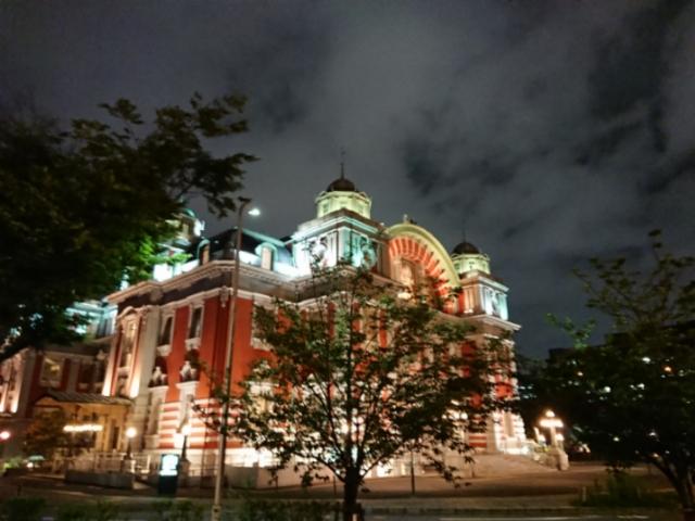 夜の大阪市中央公会堂