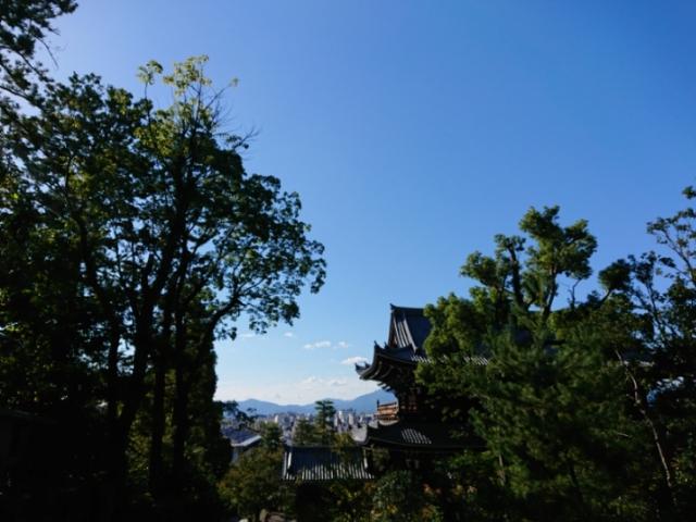 知恩院女坂から見た三門と京都市街