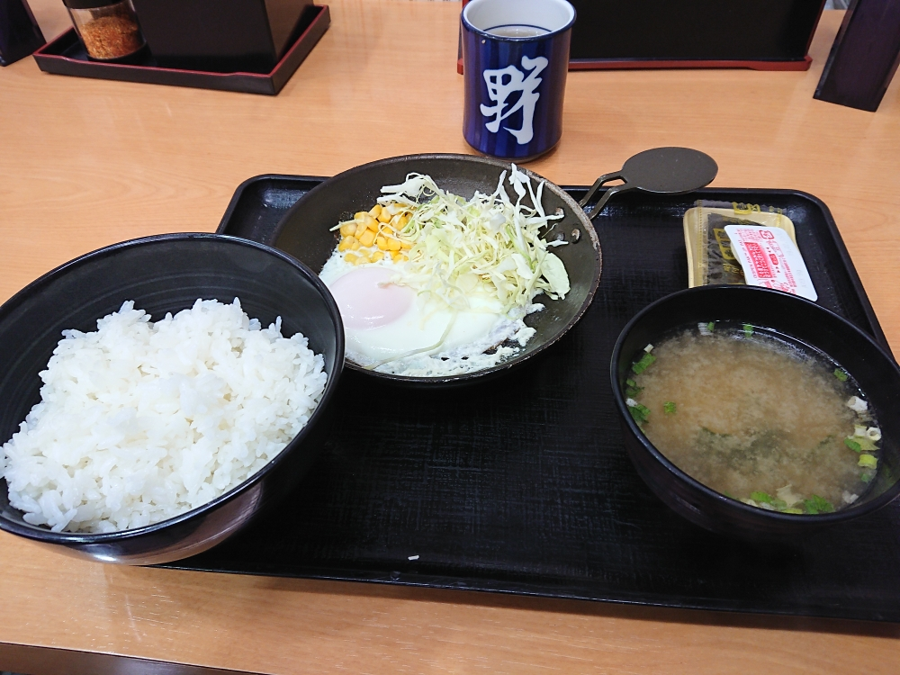 吉野家金沢百番街店 ハムエッグ定食