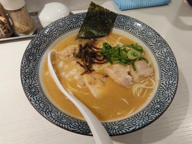 めんや美鶴 濃厚鶏白湯そば黒(醤油)