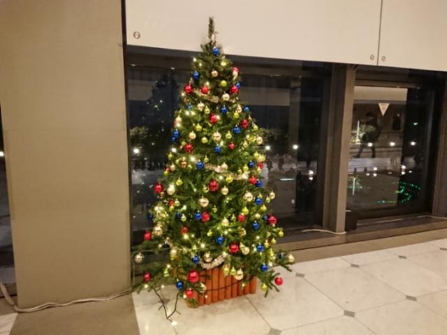 京都コンサートホールのクリスマスツリー
