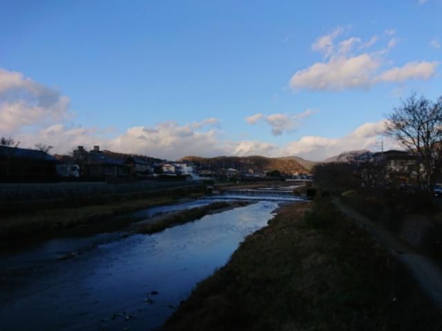 青い高野川