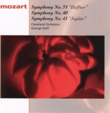 ジョージ・セル指揮クリーヴランド管弦楽団 モーツァルト交響曲第35番「ハフナー」、交響曲第40番ト短調、交響曲第41番「ジュピター」
