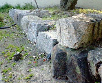 高槻城跡 石垣