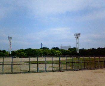 大阪城公園内野球場