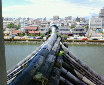 名古屋城清須櫓内から見た千鳥破風