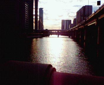 大阪・大江橋から見た夕景