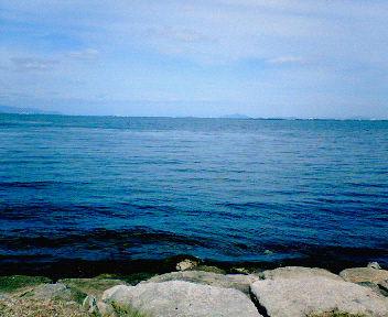 秋の琵琶湖