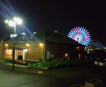 夜の神戸ハーバーランド煉瓦倉庫