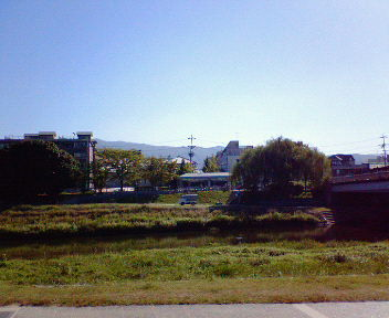 山紫水明処前から見た東山と鴨川