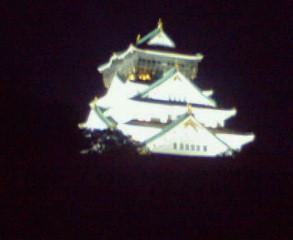 闇に浮かぶ大阪城天守閣