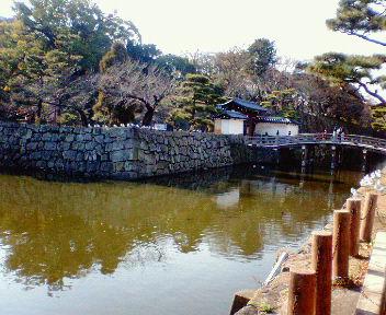 和歌山城大手門と石垣、堀