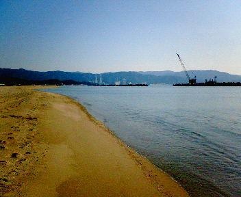 新和歌浦 海と砂浜
