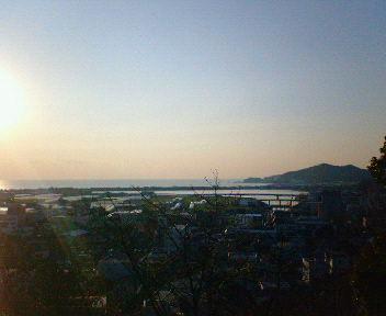 紀三井寺から見た和歌浦
