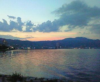 琵琶湖夕景(2)