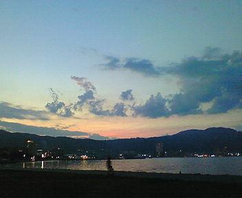 琵琶湖夕景(3)