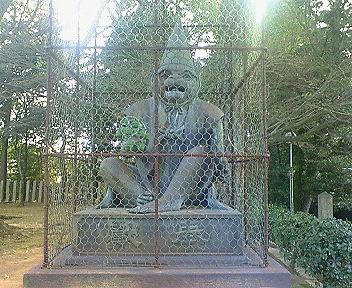 新日吉神宮 狛猿 阿像