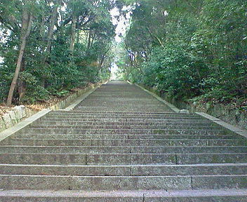 豊国廟へ向かう急階段