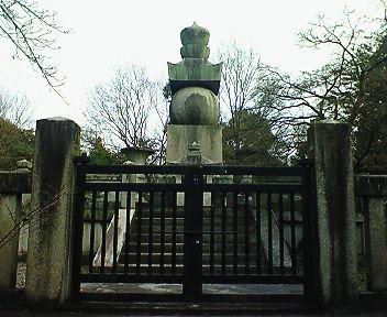 豊国廟 豊臣秀吉公墓石