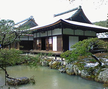 雪の銀閣寺 東求堂