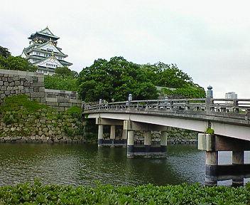 大阪城 極楽橋と天守閣