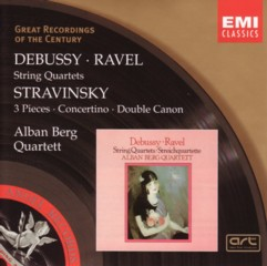 アルバン・ベルク・カルテット ドビュッシー&ラヴェル「弦楽四重奏曲」+ストラヴィンスキー「弦楽四重奏のための3つの小品」