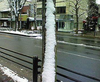 吹雪の痕跡