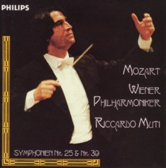 リッカルド・ムーティ指揮ウィーン・フィルハーモニー管弦楽団 モーツァルト交響曲第39番&第25番
