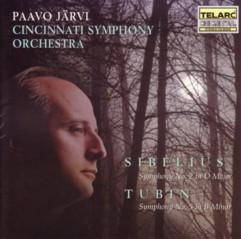 パーヴォ・ヤルヴィ指揮シンシナティ交響楽団 シベリウス交響曲第2番&トゥビン交響曲第5番