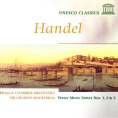 チャールズ・マッケラス指揮プラハ室内管弦楽団 ヘンデル「水上の音楽」組曲 ユネスコ・クラシックス盤ジャケット