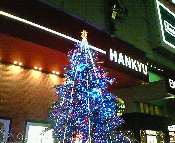 梅田HEP前のクリスマスツリー3