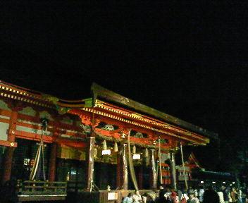夜の八坂神社1