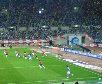 サッカー キリンカップ 日本対チリ戦
